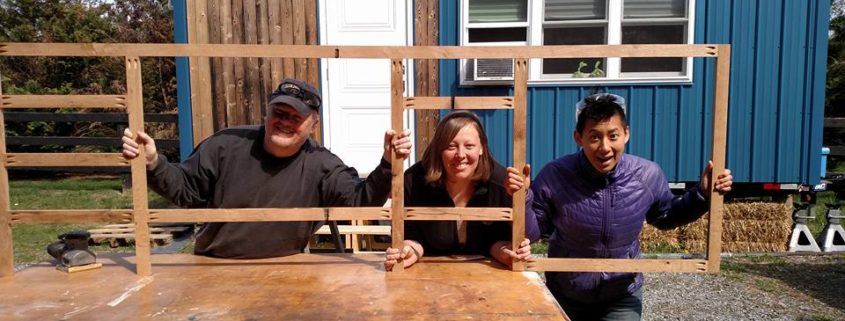 people building tiny houses
